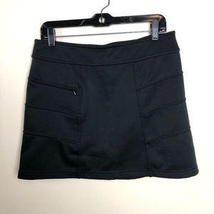 Athleta Blizzard fleece lined pull on black skirt